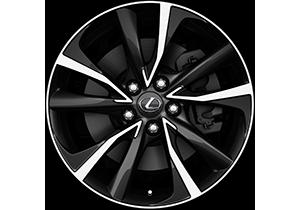 "18"" black machined face alloy wheels 5 double spoke partnumber PZ406 X3670 MB"