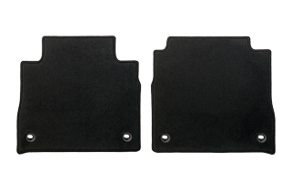 Textile floor mats Black Rear set no Ottoman