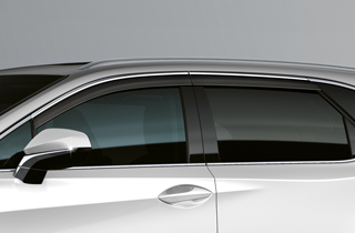 Wind deflectors with chrome Complete set