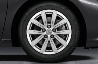 10 spoke silver alloy wheels 17