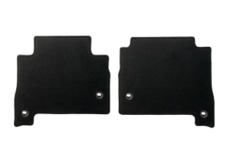 Textile Floor mats Black Rear Set with Ottoman