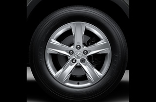 18 5 spoke silver alloy wheels