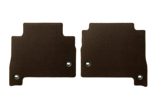 Textile floor mats Brown Rear set with Ottoman
