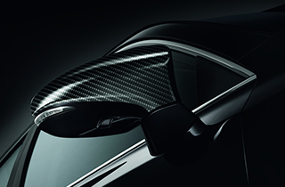Mirror cover carbon look