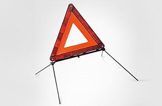Lexus warning triangle