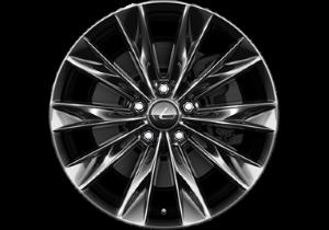Lexus LM Felge 7 5 x 18 mit 10 Speichendesign Farbe dunkelgrau glänzend freigegeben für Bereifung 225 60 R18