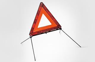 Lexus warning triangle