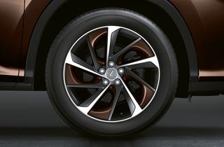 Alloy wheel copper brown insert
