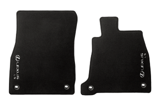 Textile Floor mats Black Front set