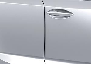 Schutzleistenset 4 tlg für die Türkanten Material Edelstahl in Wagenfarbe lackiert in allen 10 Wagenfarben lieferbar die beiden Endzahlen der Teilenummer sind farbabhänig unterschiedlich