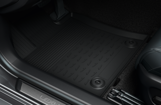 Rubber floor mats front set