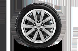 17 vinterhjul med alufælge og vinterdæk