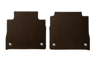 Textile Floor mats Brown Rear set No Ottoman