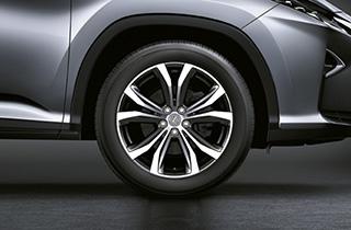 Lexus LM Rad SPIRIT 8x20 Farbe dunkelgrau metallic ohne Nabenkappe und Radmuttern
