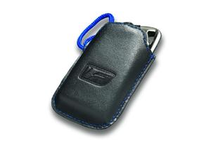 Lexus Schlüssel Schutzhülle für Smart Key Material Kunstleder mit Ziernähten Farbe dunkelgrau mit F Sport Logo