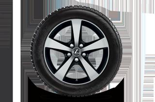 17 lättmetallfälgar 5 ekrade med Bridgestone WS80