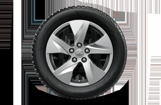17 lättmetallfälgar 5 ekrade med Bridgestone DMV2