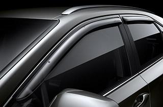 Lexus Tür Windabweiserset 4 tlg verhindert Luftverwirbelungen bei Fahrten mit leicht geöffneten Türscheiben